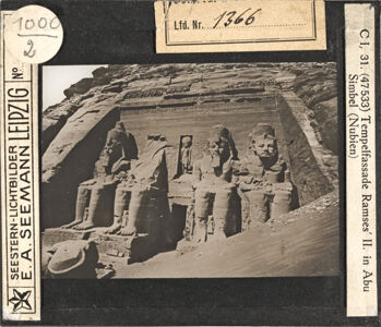 translation missing: de.preview Abu Simbel, Tempelfassade Ramses II. (Serie C I, Bild 31)