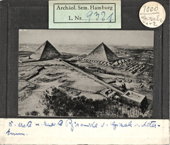 translation missing: de.preview Gizeh, Pyramiden im Alterum (Rekonstruktion)