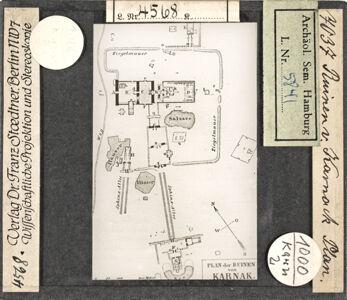 translation missing: de.preview Ruinen von Karnak, Plan (Stoedtner-Nr. 7037)