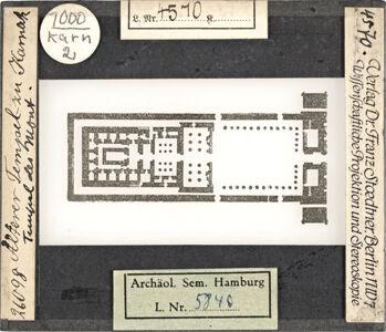 translation missing: de.preview Älterer Tempel zu Karnak. Tempel des Mont (Stoedtner-Nr. 26098)