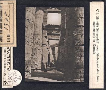 translation missing: de.preview Seitenschiff vom Säulensaal des Ammontempels in Karnak (Serie C I, 29)
