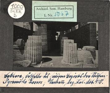 translation missing: de.preview Sakkara. Festhalle des Heiligen Bezirks der Stufenpyramide