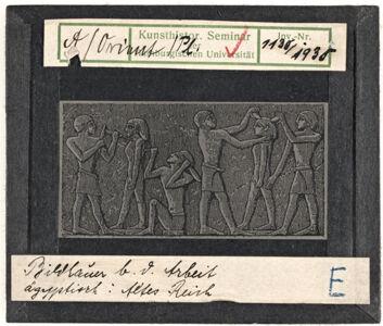 translation missing: de.preview Bildhauer bei der Arbeit (Altes Reich)