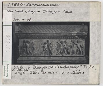 translation missing: de.preview Athen: Nationalmuseum, röm. Sarkophag mit Dionys. Szene