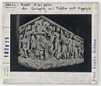 translation missing: de.preview Arles: Musee d´art paien, röm. Sarkophag mit Phädra und Hippolyte