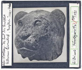 translation missing: de.preview Silberner Löwenkopf, Bagdad, Irak-Museum