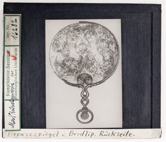 Vorschaubild Bronzespiegel von Birdlip, Rückseite