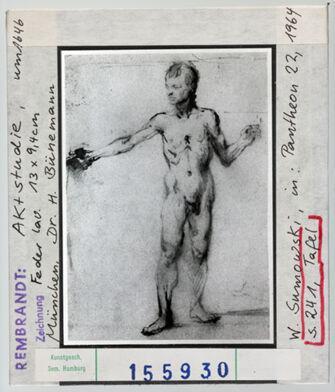 Vorschaubild Rembrandt: Aktstudie. München, Dr. H. Bünemann