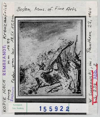 Vorschaubild Rembrandt: Kreuzaufrichtung. Boston, Museum of Fine Arts