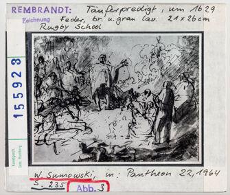 Vorschaubild Rembrandt: Johannes der Täufer predigt. Rugby School