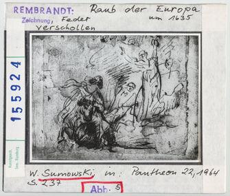 Vorschaubild Rembrandt: Raub der Europa. Verschollen