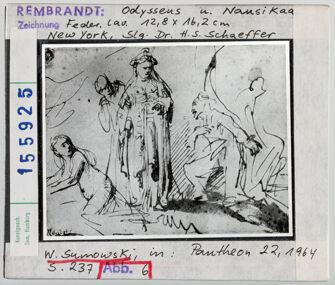 Vorschaubild Rembrandt: Odysseus und Nausikaa. New York, Sammlung Dr. H. S. Schaeffer