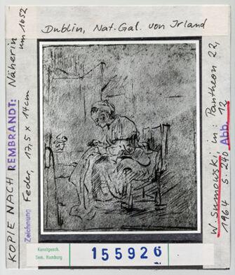 Vorschaubild Rembrandt: Näherin. Dublin, National Gallery of Ireland