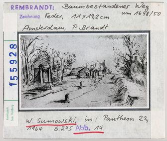Vorschaubild Rembrandt: Baumbestandener Weg. Amsterdam, P. Brandt