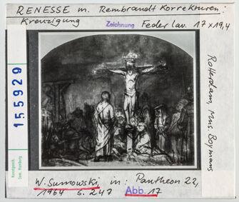Vorschaubild Renesse mit Rembrandt-Korrekturen: Kreuzigung. Rotterdam, Museum Boymans