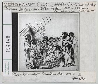 Vorschaubild Rembrandt: Christus wäscht seinen Jüngern die Füße. Paris, Louvre