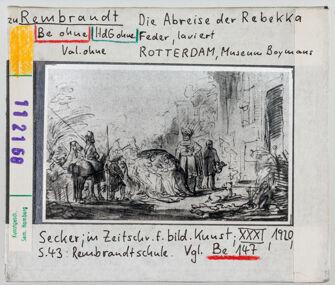 Vorschaubild zu Rembrandt: Die Abreise der Rebekka. Rotterdam, Museum Boymans