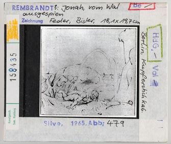 Vorschaubild Rembrandt (?): Jonah, vom Wal ausgespien. Berlin, Kupferstichkabinett