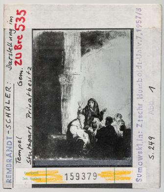 Vorschaubild Rembrandt-Schüler: Darstellung im Tempel. Stuttgart, Privatsammlung