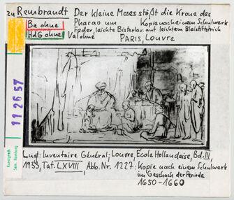 Vorschaubild zu Rembrandt: Der kleine Moses wirft die Krone des Pharao zu Boden. Paris, Louvre