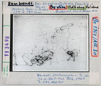 Vorschaubild Rembrandt: Der Engel verlässt die Familie des Tobias. Budapest, Museum d. Schönen Künste