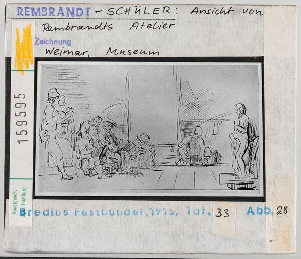 Vorschaubild Rembrandt-Schule: Ansicht von Rembrandts Atelier. Weimar, Museum