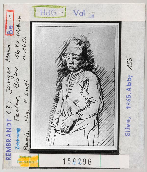 Vorschaubild Rembrandt (?): Junger Mann. Paris, Sammlung Lugt