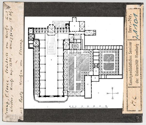 Vorschaubild Florenz: Santa Croce, Grundriss von Kirche und Kloster