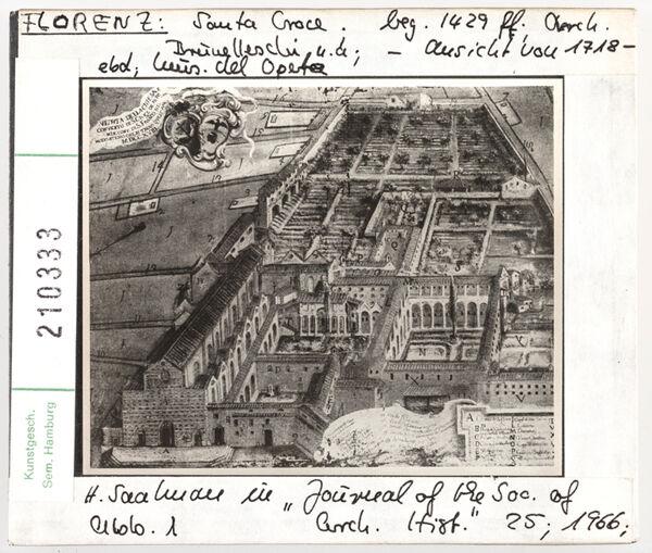Vorschaubild Florenz: Santa Croce, Ansicht von 1718. Museo del Opera