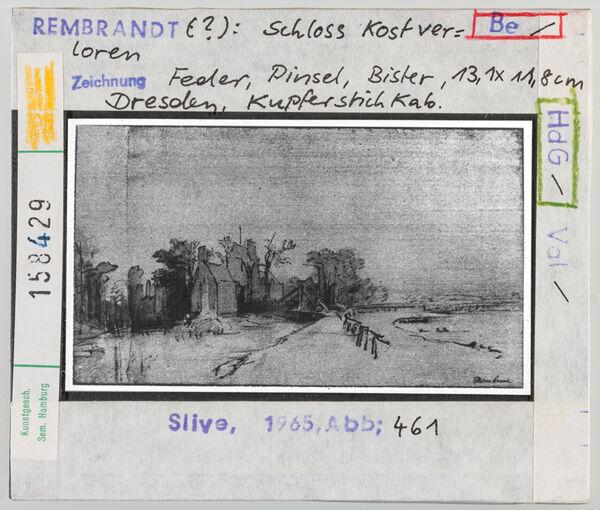 Vorschaubild Rembrandt (?): Schloss Kostverloren. Dresden, Kupferstichkabinett