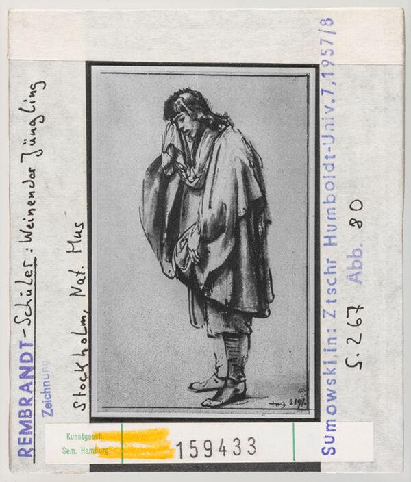 Vorschaubild Rembrandt-Schüler: Weinender Jüngling. Stockholm, Nationalmuseum