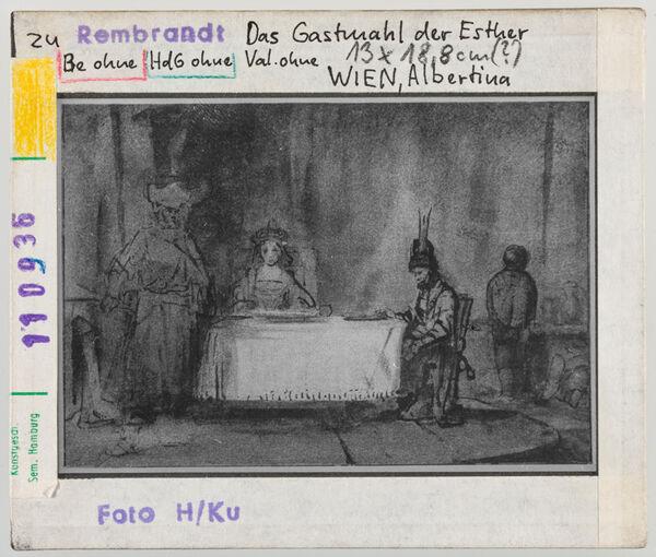 Vorschaubild zu Rembrandt: Das Gastmahl der Esther. Wien, Albertina