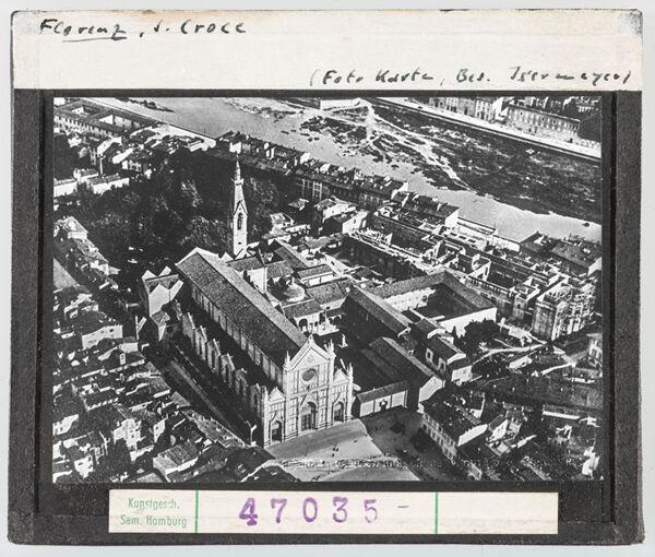 Vorschaubild Florenz: Santa Croce, Gesamtansicht, Luftbild