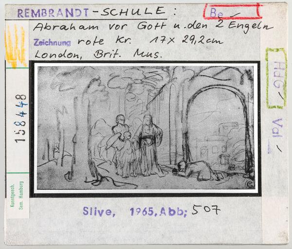 Vorschaubild Rembrandt-Schule: Abraham vor Gott und den zwei Engeln. London, British Museum