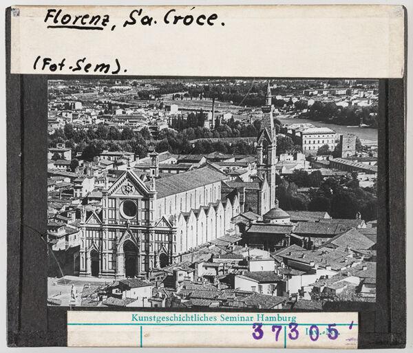 Vorschaubild Florenz: Santa Croce, Gesamtaufnahme, Luftbild