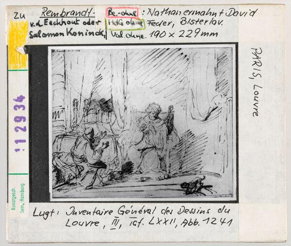 Vorschaubild zu Rembrandt: Nathan ermahnt David. Paris, Louvre