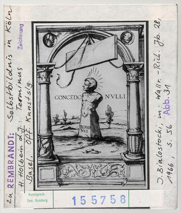 Vorschaubild zu Rembrandt: Selbstbildnis in Köln, H. Holbein d. J.: Terminus. Basel, Öff. Kunstsammlung
