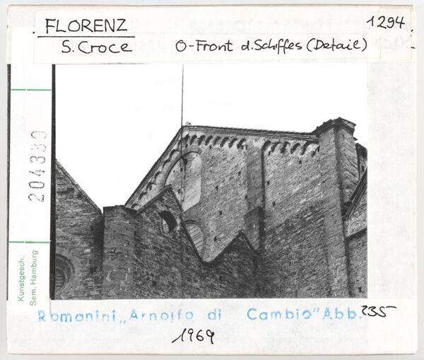 Vorschaubild Florenz: Santa Croce, Ostfront des Schiffes (Detail)
