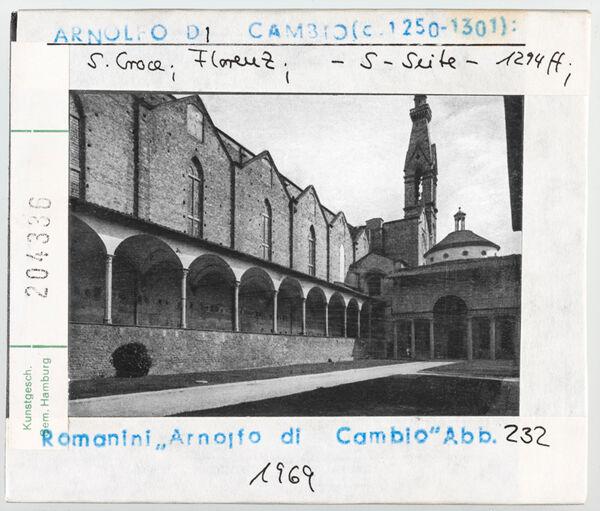 Vorschaubild Florenz: Santa Croce, Südseite, Kreuzgang. Architekt: Arnolfo di Cambio