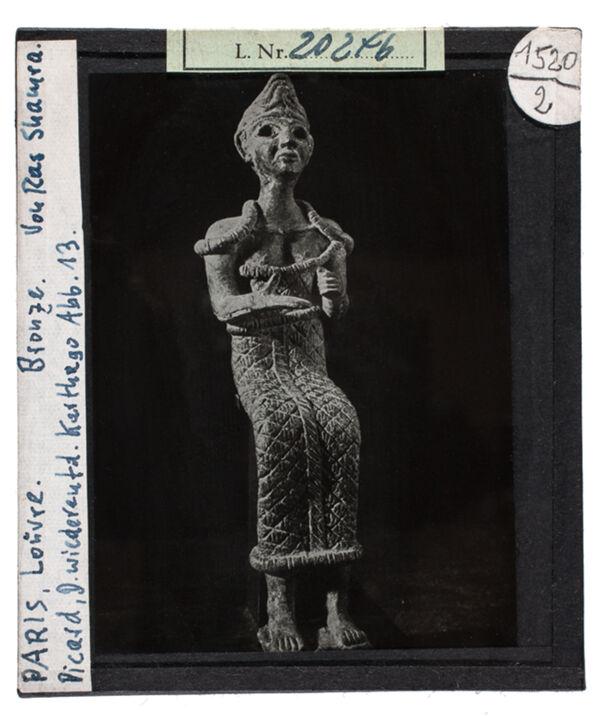 Vorschaubild Sitzender Mann, Bronze von Ras Shamra. paris, Louvre