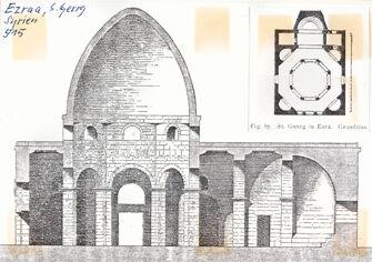 Vorschaubild Ezra (Izra), Syrien, Kirche St. Georg, Schnitt und Grundriss