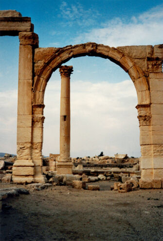 Vorschaubild Palmyra, Blick von der Agora zum Nymphäum