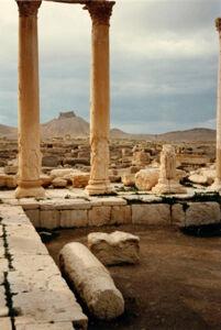 translation missing: de.preview Palmyra, Blick von Diokletiansthermen zur arabischen Burg