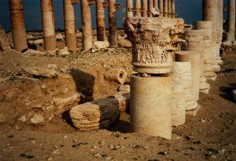Vorschaubild Palmyra, Kolonnaden (Detail)