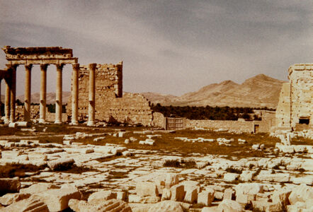 translation missing: de.preview Palmyra, Baaltempel, SW-Ecke der Terrasse