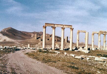 translation missing: de.preview Palmyra, Blick zur Nekropole