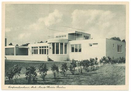 translation missing: de.preview Einfamilienhaus. Architekt Moritz Hadda, Werkbund-Ausstellung Wohnung und Werkraum 1929 in Breslau (Postkarte Eigentum Kurt Wilhelm-Kästner)