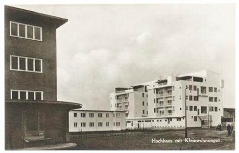 translation missing: de.preview Hochhaus mit Kleinwohnungen, Werkbund-Ausstellung Wohnung und Werkraum 1929 in Breslau (Postkarte Eigentum Kurt Wilhelm-Kästner)