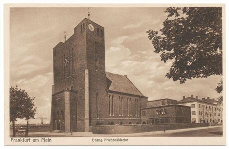 translation missing: de.preview Evangelische Friedenskirche (Postkarte Eigentum Kurt Wilhelm-Kästner)