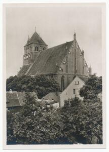 translation missing: de.preview Marienkirche, Ansicht von Südost (Postkarte Eigentum Kurt Wilhelm-Kästner)